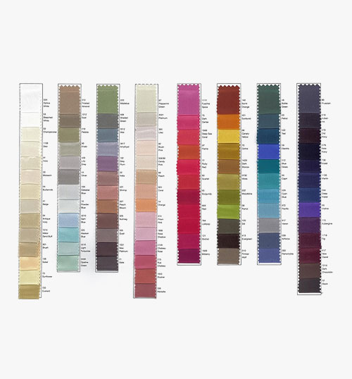 Crepe Satin Colour Card