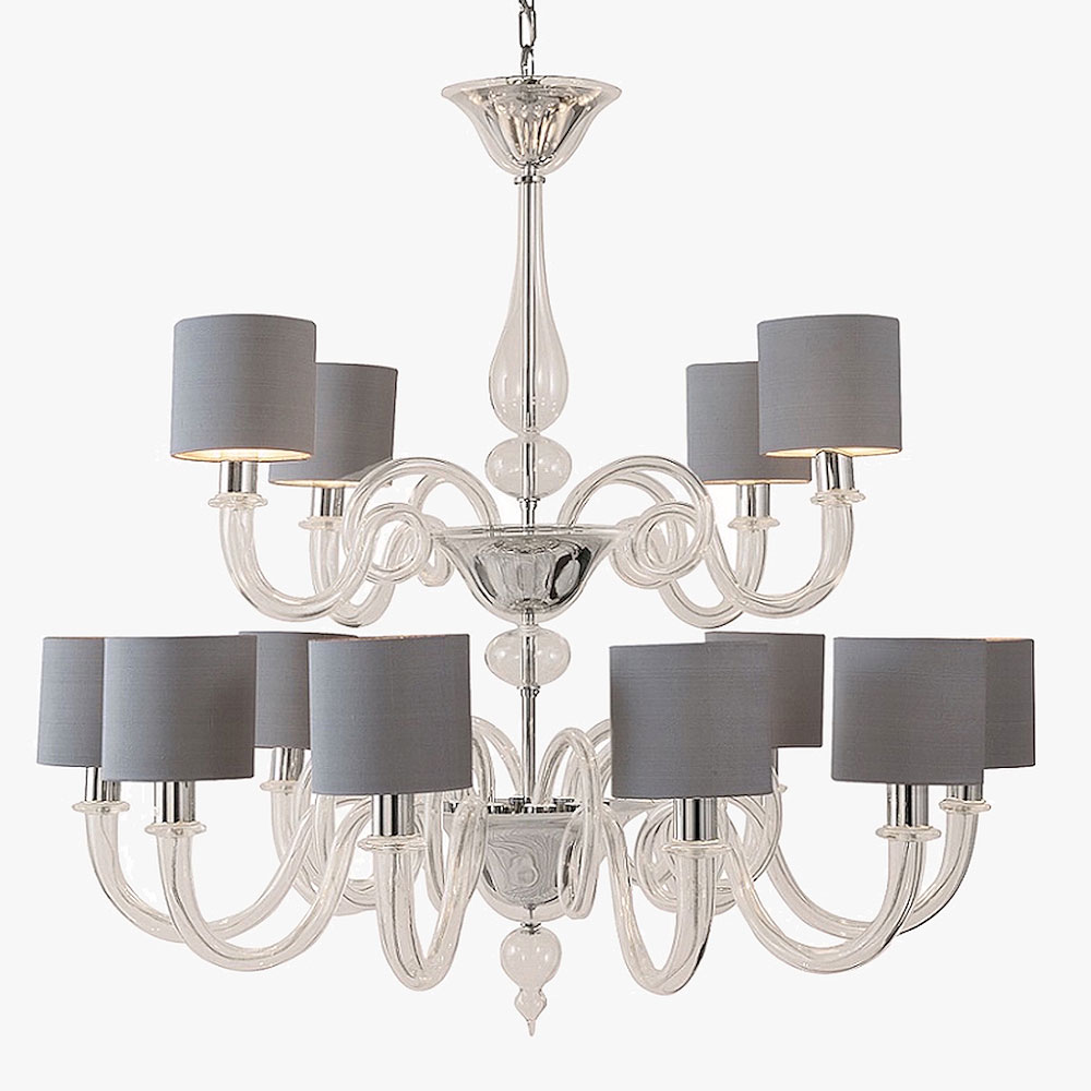 Michelangelo Chandelier With Drum Shades