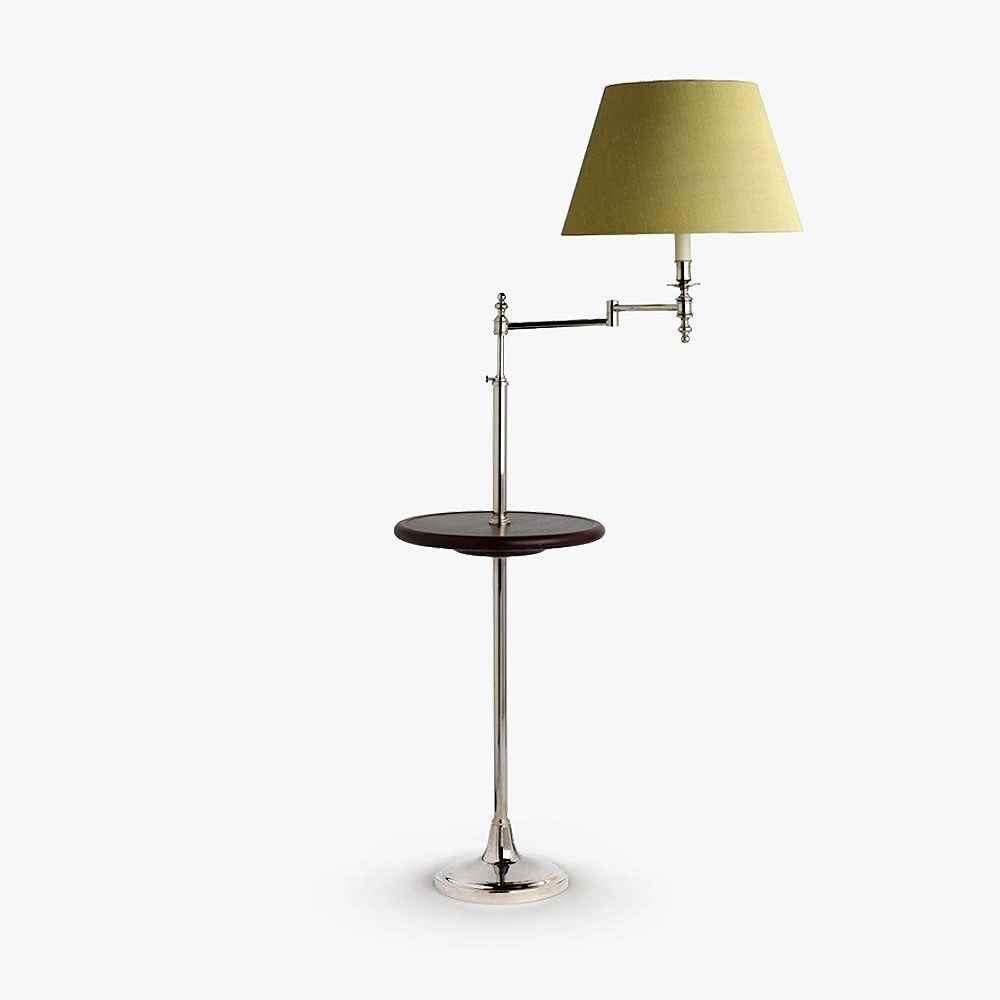 Swing arm with table floor lamps bella figura the for Floor lamp with table