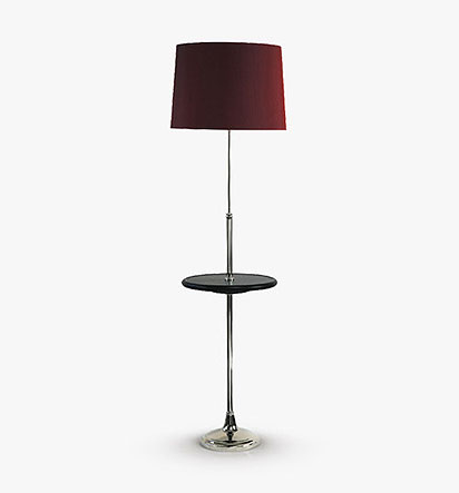 Adjustable Floor Lamp with Table