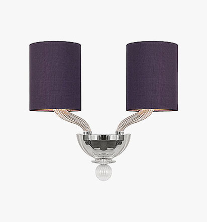 Romanelli Wall Light with tall drum shades
