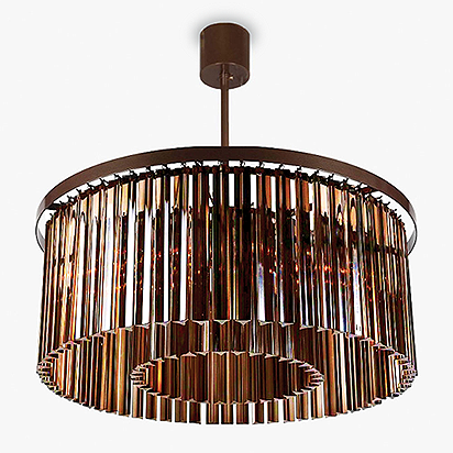 Large Double Drum Chandelier