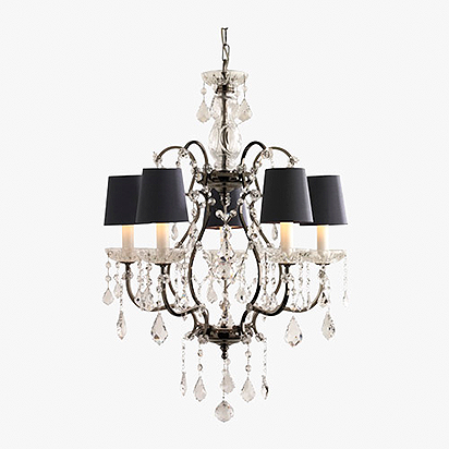 Crystal Chandelier with Cut Crystal Cups