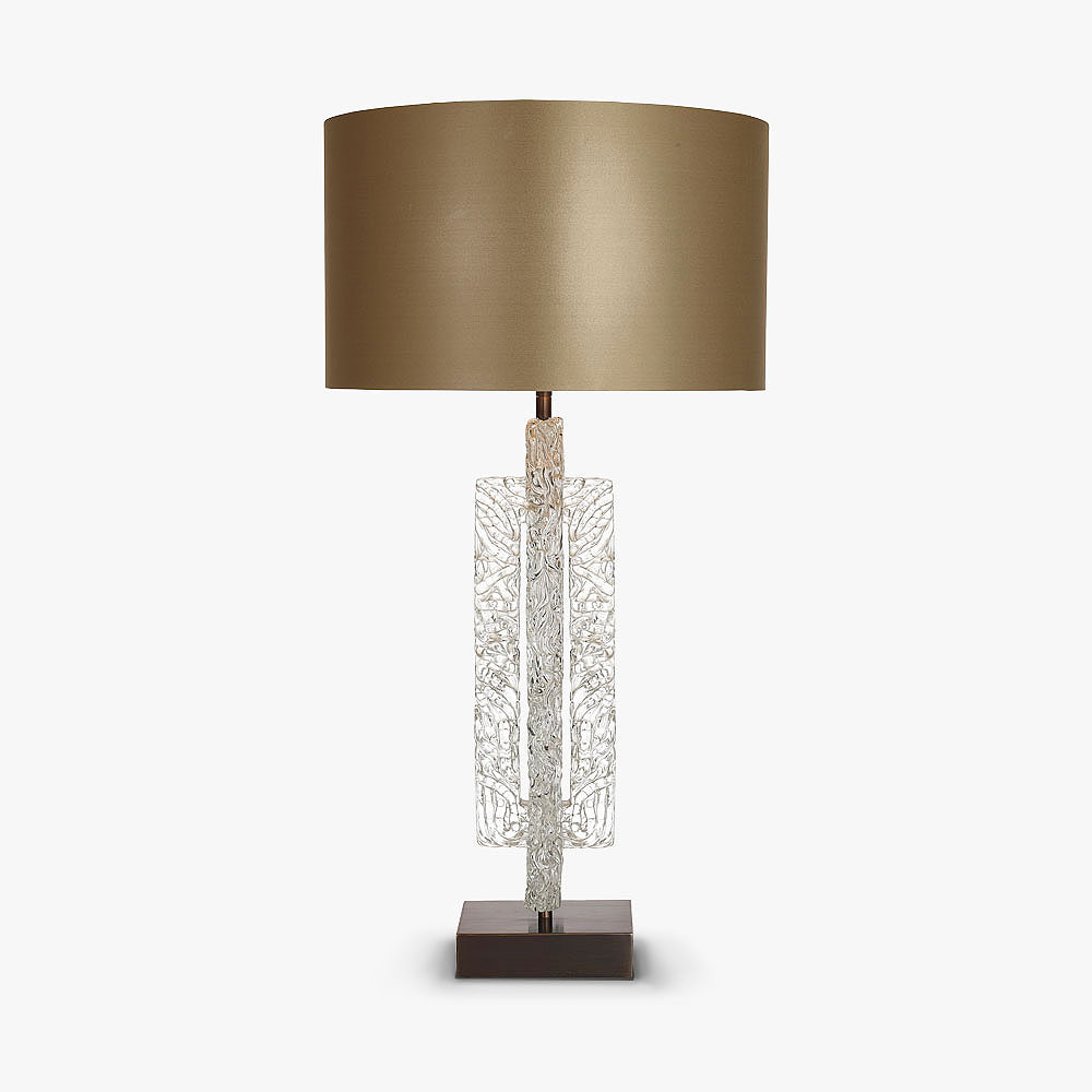 Double ice block lamp table lamps bella figura the for Bella figura lamps